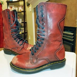 Vintage Dr. Martens Tall Distressed Leather Boots